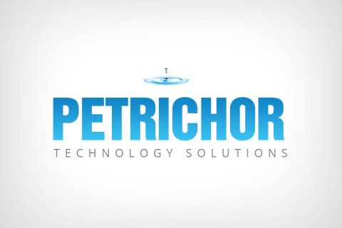 Combination mark logo design for Petrichor Technology Solutions