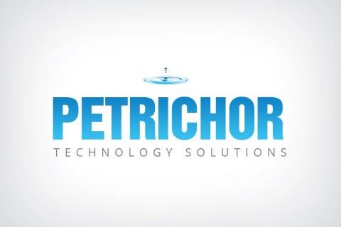 Combination mark logo design for Petrichor Technology Solutions